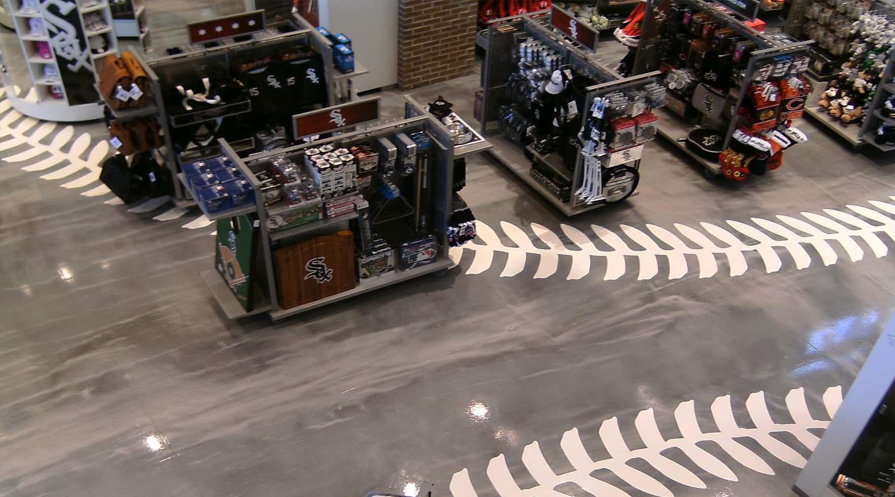 custom baseball seamless floor