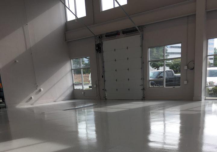 epoxy install near bay doors