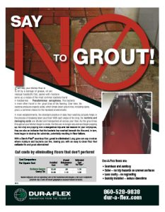 Dur-A-Flex - Say 'NO' to Grout