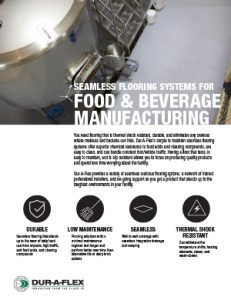 Food & Beverage Manufacturing Flooring